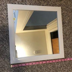 Bath - SOLD White Square Mirror